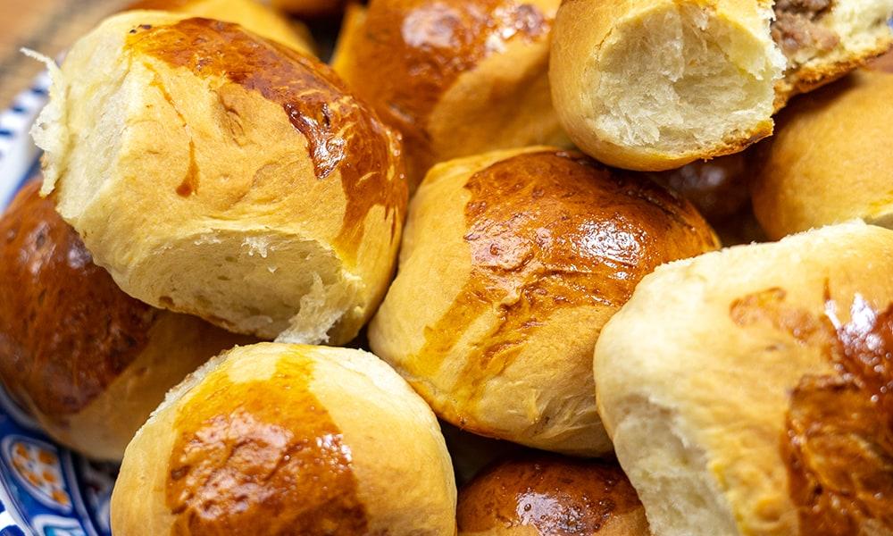 Pãozinho Saboroso de Carne Moída